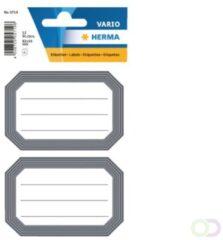 Huismerk Herma 5719 Etiket Schrift 82x55mm Grijs/wit - Pakje Met 6 Velletjes Stickers