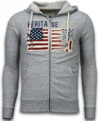 Enos Casual Vest - Embroidery American Heritage - Grijs - Maat: XS