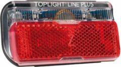 Zwarte BUSCH & MÜLLER Busch + Müller Toplight Line Dynamo Achterlicht met parkeerlicht 80 mm, black