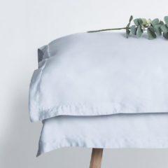 Coco & Cici zacht, luxe en duurzaam beddengoed - dekbedovertrek - tweepersoons - 200 x 220 - blauw grijs