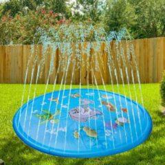 Rode GadgetTech 170CM Water fontein mat / Water speelmat / Buiten speel mat / Opblaasbaar / Buiten fontein / Kinderen