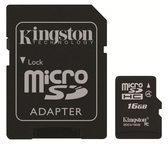 Kingston Technology GmbH Kingston SDC4/16GB - Flash-Speicherkarte ( microSDHC/SD-Adapter inbegriffen ) SDC4/16GB