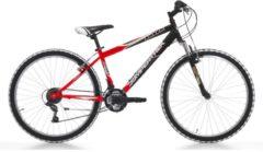 Cicli Cinzia 26 ZOLL CINZIA SHARK MOUNTAINBIKE 18-GANG MTB Hardtail Herren rot-schwarz
