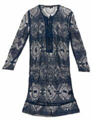 Blauwe Korte Jurk Antik Batik LEANE