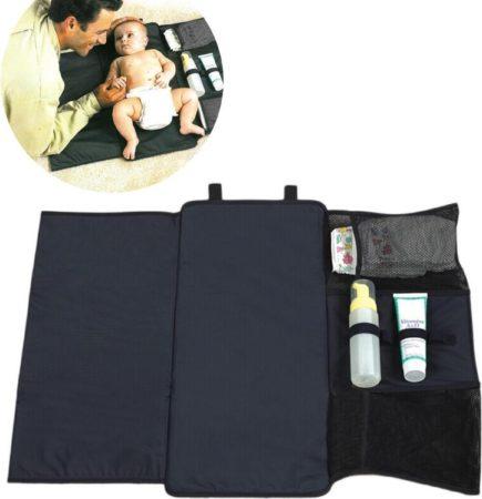 Afbeelding van Donkergrijze ZAWAdeals - Cool-Zawadi Opvouwbare baby luier doek -verzorgingskussen deken - Waterafstotend