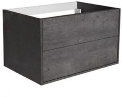 Onderkast Allibert Marny 80x53,5x47,2 cm Donker Beton (wastafel optioneel)