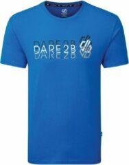 Dare 2B Focalize Grafisch T-Shirt Met Korte Mouwen Voor Heren Helderblauw