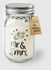 Witte Paper dreams Black & White geurkaars - Mr. & Mrs.