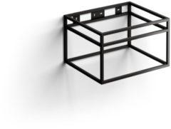 Clou New Wash Me Frame Kokerprofiel Kast Zonder Bodem RVS Mat Zwart 50x40x30cm