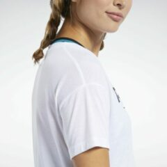 Witte Reebok Workout Ready Supremium Logo T-shirt