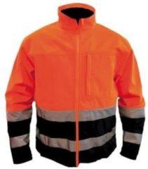 M-wear Soft Shell 1300 En471 Oranje/blauw, Maat Xxl