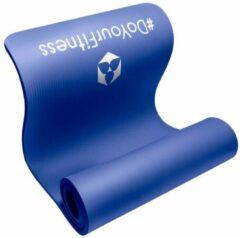 #DoYourFitness - dikke fitness mat perfect voor pilates, aerobics, yoga - »Yamuna« - non-slip, duurzaam, huidvriendelijk, slijtvast - 183 x 61 x 1,5 cm - blauw
