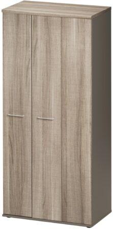 Afbeelding van Gamillo Furniture Opbergkast Jazz 183 cm hoog in grijs eiken met grijs