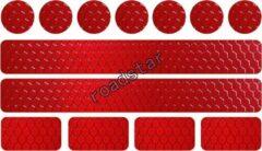Roadstar Reflecterende Veiligheids stickers rood - Reflectie tape voor in het verkeer - Maak wandelwagens, koffers, buggy's, skelters, helms, fietsen etc goed zichtbaar in het donker.