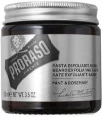 Proraso Single Blade baard exfoliant scrub crème Mint & Rosemary 100ml