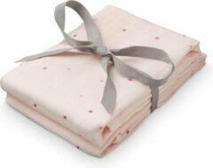 Roze Cam Cam Camcam hydrofiel doek etoile rose VPE:2 stuks