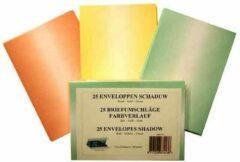 Top-Hobby Schaduw Enveloppen Set - C6 11,4 x 16,2cm - Totaal 100 Enveloppen - Groen, Geel en Rood