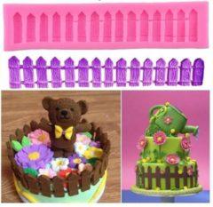 Roze Ardran & Tookar Fondant Tuinhek Mal - Siliconen Hekje versiering vorm - Fondant / Marsepein / Chocolade / Zeep - 1 stuks