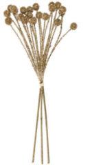 Fleurange Glitzer-Zweige mit Pompons, 3-teilig