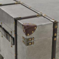 Zilveren VidaXL Salontafel 102x51x47,5 cm MDF en aluminium