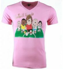 Roze T-shirt Korte Mouw Mascherano T-shirt - Football Legends Print