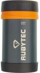 Grijze RUBYTEC Shira Foodcontainer Drinkfles - 500 ML - Donkergrijs