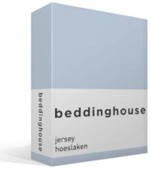 Blauwe Beddinghouse Hoeslaken Jersey Light Blue-160 x 200/210/220 cm