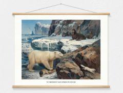 Witte Wallchart unlimited Schoolplaat 'Te midden van sneeuw en ijs'' van M.A. Koekkoek