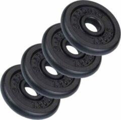 Zwarte ScSPORTS® Halterschijven set 5 kg - Gietijzer - 30 mm - 4x1,25 kg - Gewichten