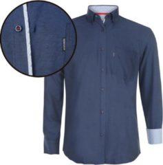 Marineblauwe Donadoni Regular fit Heren Overhemd Maat S