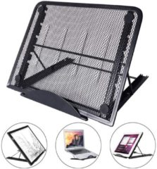 Universele Tablet & LED A4 Lightpad Diamond Painting & Kookboek Standaard - Bureau Tafel Houder Staander - Inklapbaar & Verstelbaar - Zwart