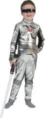 Zilveren Funny Fashion Ruimtereiziger kind - Verkleedkleding - Maat 140