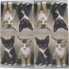 Esschert Design Servetten Kittens 33 Cm Papier Grijs 3-laags