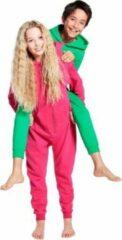 Bellatio Warme onesie jumpsuit voor kinderen 5-6 jaar Groen