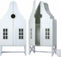 Kast Durgerdam. Kast van een Huis. 210/100/55 cm. Wit