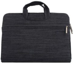 Mac-cover.nl Denim laptoptas 15.4 inch - Zwart