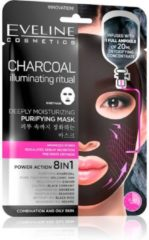 Eveline Cosmetics Charcoal Deeply Moisturizing Face Sheet Mask