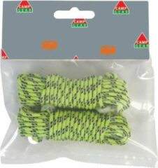 Gele Camp-Gear - Scheerlijn + Spanners - Ø 3 mm - 2x 3,5m - Reflecterend nylon