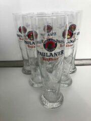 Wijgert.nl Paulaner Hefe Weiss Weizen Bierglas Bokaal doos 6x50cl + rol viltjes bier glas glazen bierglazen weissbier