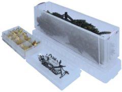 Really Useful Box opbergdoos 77 liter met 2 dividers, transparant