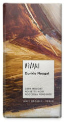 Vivani Chocolade puur praline nougat 100 Gram