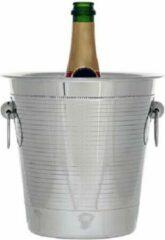 Roestvrijstalen Cosy&Trendy Cosy en Trendy Pearl - Champagne-emmer - RVS - (set van 2) En Yourkitchen E-kookboek - Heerlijke Smulrecepten