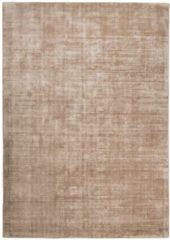 Handarbeitteppich Shine Uni Tom Tailor Braun