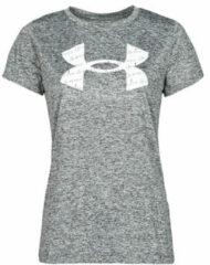Grijze T-shirt Korte Mouw Under Armour TECH TWIST BL SSC