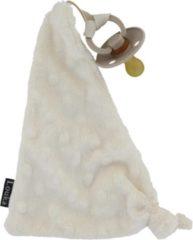 Creme witte Louka speendoekje driehoek minky crème | meisje | jongen | Minky | speenknuffel | speen |