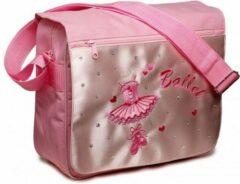 Roze Katz Ballettas schoudertas canvas Satijn met flap