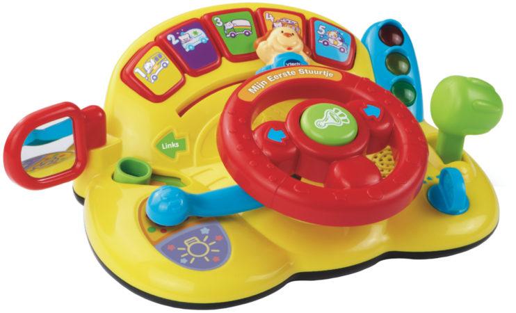 Afbeelding van Gele VTech Baby Mijn Eerste Stuurtje - Speelpaneel