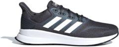 Adidas Runfalcon Sneakers - Maat 42 2/3 - Mannen - donker grijs/ wit/ zwart