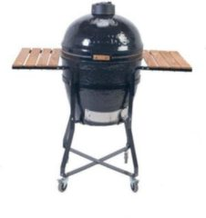 Zwarte Primo Grill and smokers Kamado Houtskoolbarbecue - Incl. Standaard - Rond