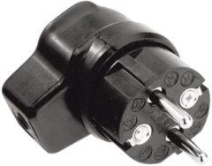 Kalthoff 919171 Haakse stekker met randaarde Rubber 250 V Zwart IP44